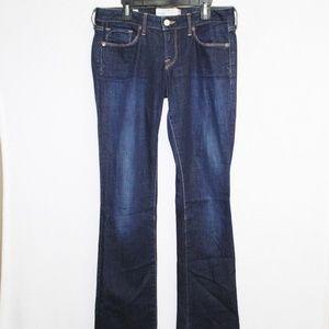 Lucky Brand dark wash lolita boot selvedge jeans